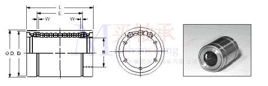 NTN轴承KD406080结构图